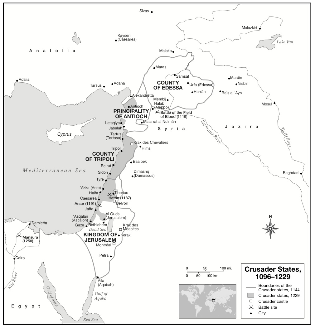 map crusader states